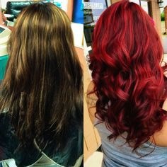 Totally crushing on this red transformation by _melissmarie! She used CHI Ionic 8RR and 6RV ‪#CHIcolor‬.