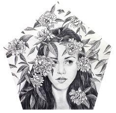 Dibujo de Andrea Barreda Colmena 1 - Ink and paper by Andrea Barreda