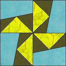 Block of Day for August 21, 2014 - Wacky Pinwheel