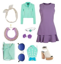 """""""Night out on the town with Ariel"""" by harmony-vega ❤ liked on Polyvore featuring Boutique Moschino, McQ by Alexander McQueen, Rebecca Minkoff, Apt. 9, Carole, Disney and Bling Jewelry"""