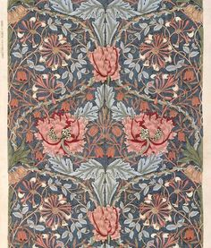 1876 William Morris (English Pre-Raphaelite and Arts and Crafts Movement artist, writer, textile designer, socialist; Arts And Crafts For Adults, Arts And Crafts House, Easy Arts And Crafts, Arts And Crafts Projects, William Morris Patterns, William Morris Art, Motifs Art Nouveau, Arts And Crafts Interiors, Arts And Crafts Storage