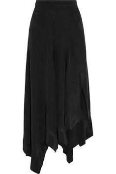 Isabel Marant - Odelia Asymmetric Silk Maxi Skirt - Black - FR36