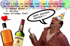 A birthday card for Stef via HAPPY BIRTHDAY STEF! LOVE, A+ AND THE INTERNET by Megan W