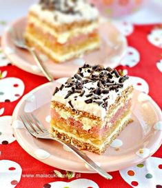 Polish Cake Recipe, Polish Recipes, Polish Food, Good Food, Yummy Food, Food Cakes, Fruit Cakes, No Bake Cake, Baked Goods