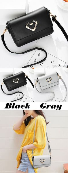 Elegant PU Metal Love Heart Flap Square Lady Shoulder Bag for big sale! #square #shoulder #Bag #pu #love #heart
