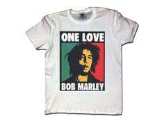 BOB MARLEY One Love Unisex T-Shirt White Reggae Music Shirt