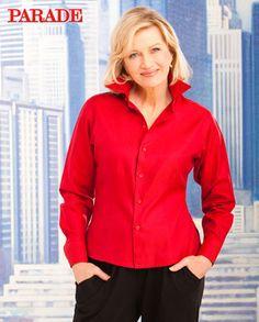 Exclusive photos of Diane Sawyer. Diane Sawyer, Lady In Red, Celebrities, Photos, Jackets, Dresses, Women, Fashion, Madame Red
