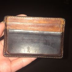 Men's Coach wallet Men's Coach wallet-money clip style.  My husband carried it for a few years and still loves it, but we are cleaning out!  Gorgeous worn-in brown leather! Coach Bags Wallets