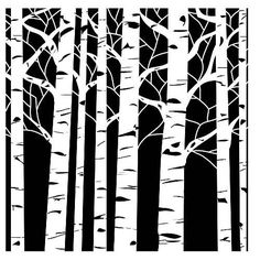 SILHOUETTE TREES: Neutral background and painted black and/or white trees.  http://www.bluemoonscrapbooking.com/product_images/237252hr.jpg
