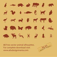 Animal Silhouettes Vector Pack. Bathroom art