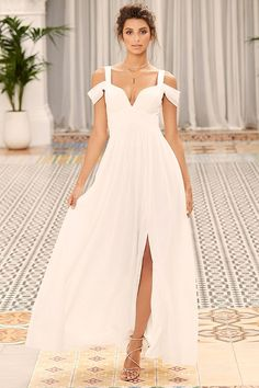 Bariano ocean of elegance white dress