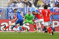 Gales vs Eslovaquia.  Gol de Duda