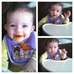 1st day eating Carrots Yummy#babybullet #babyfood