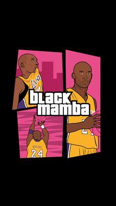 The black Mamba background phone wallpapers! Funny Basketball Memes, Basketball Art, Love And Basketball, Ronaldo Wallpapers, Nba Wallpapers, Cool Wallpapers For Phones, Kobe Bryant Family, Lakers Kobe Bryant, Raptors