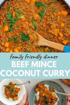 Mince Curry, ground beef, curry flavours, and coconut milk come together in this easy family-friendly dinner. Get this delicious recipe here at My Kids Lick Minced Beef Curry, Ground Meat, Curry Recipes, Meat Recipes, Cooking Recipes, Healthy Mince Recipes, Greek Recipes, Recipies, Chili Con Carne