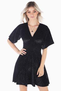 4fb19983506 All That Glitters Velvet V Neck Dress BM - Limited
