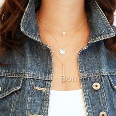 $ 3,45 Modo Schmuck Schön Halskette Form mit der mehrschichtige mit Runde…
