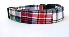 Adjustable Dog Collar  Patchwork Plaid  1 by MuttsandMittens