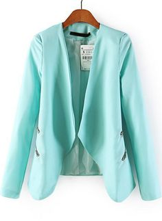 I am so obsessed with the longer lapels on this jacket and the zipper details. Would be great to pair with skinny jeans or leggings, a clutch purse, and high heels for a business or club look. Blue Long Sleeve Zipper Crop Blazer $30.83 Sheinside www.sheinside.com