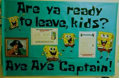 RA Esa's Spongebob themed closing bulletin board!