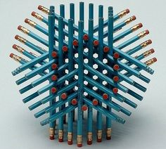 Pencil Decoration Piece / might be a fun teacher gift Pencil Art, Pencil Drawings, Pencil Crafts, Hair Drawings, Creation Cv, Tom Friedman, Reto Mental, Things Organized Neatly, Picture Puzzles