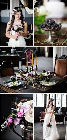 Cincinnati Wedding I Bridal Buzz    Wedding Inspiration: Game of Thrones Purple Wedding Styled Shoot