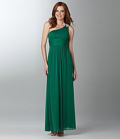 Hailey by Adrianna Papell Beaded Gown in Emerald. I want Emerald colored weddings to trend!