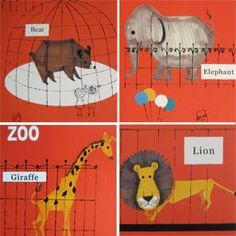 Animals in the Zoo Poster - by Shinzi Katoh $55.00