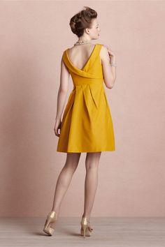 Feria Mustard Dress from BHLDN