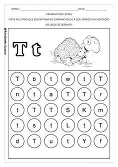 Caminho das letras | Atividades Pedagogica Suzano Toddler Learning, Preschool Learning, Kindergarten Activities, Learning Activities, Letter Worksheets For Preschool, Abc Worksheets, Abc For Kids, English Alphabet, Speech Therapy