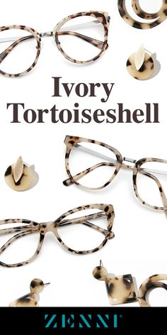 "A twist on the classic, Ivory Tortoiseshell. Shop the ""it"" trend now ✨"