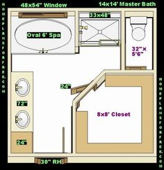 Luxury master bathroom floor plans bing images floor for Bathroom ideas for 5x6