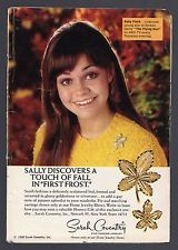 1968 SARAH COVENTRY JEWELRY AD~SALLY FIELD THE FLYING NUN~PIN & EARRINGS
