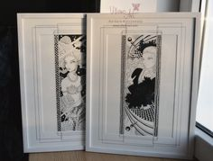 Oryginal black and white whimsical fantasy art in frame. White Art, Black And White, Ball Jointed Dolls, Art World, Bookends, Fantasy Art, Whimsical, Crafts, Home Decor