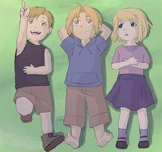 The Golden Trio | Ed, Al & Winry | Fullmetal Alchemist Brotherhood | FMAB | Anime
