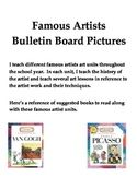 Famous Artists Posters for Bulletin Boards