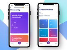 Rock Survey App by Pria Kusumawardana Mobile Ui Design, Mobile Application Design, Web Ui Design, Survey Design, Quiz Design, Questionnaire Design, Card Ui, App Design Inspiration, Daily Inspiration