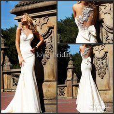 Wholesale Wedding Dresses - Buy 2013 Wedding Dresses Custom Made Desigher White Mermaid Bateau Satin Summer Wedding Gowns Attire Bridal Online, $128.64 | DHgate