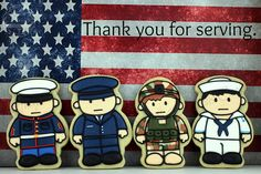 The World's Best Photos by Artfully Delicious Cookies Iced Cookies, Cut Out Cookies, Cute Cookies, Royal Icing Cookies, Yummy Cookies, Sugar Cookies, Cookies Et Biscuits, Military Cake, Military Party