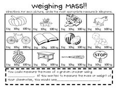 Mass and Capacity: Milliliters, Liters, Grams, and