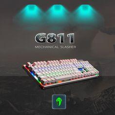 G811 Colorful LED Illuminated Backlight Programmable Mechanical Gaming Keyboard #UnbrandedGeneric
