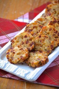 Sablés au chorizo Shortbread Cookies, Dried Cranberries, Filet Mignon, Appetisers, Beignets, Fingerfood, Buffets, Table, Quiche