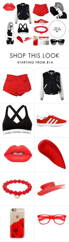 """""""Untitled #325"""" by cj34turtles on Polyvore featuring Sans Souci, Calvin Klein, adidas, Lime Crime, Lipstick Queen, Sydney Evan, Casetify and ZeroUV"""