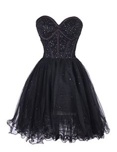 Dressystar Black Short Formal Cocktail Bridesmaid Dresses for Women