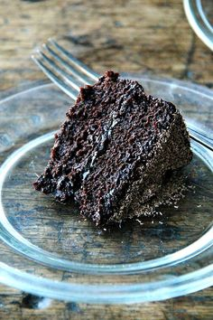 Gourmet's Double Chocolate Cake, Revisited (alexandra's kitchen) Double Chocolate Cake, Chocolate Ganache, Melting Chocolate, Flourless Chocolate, Ganache Icing, Dark Chocolate Cakes, Chocolate Shop, Chocolate Brownies, Round Cake Pans