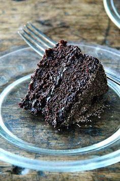 Gourmet's Double Chocolate Cake, Revisited (alexandra's kitchen) Double Chocolate Cake, Melting Chocolate, Dark Chocolate Cakes, Chocolate Shop, Round Cake Pans, Round Cakes, Chocolate Shavings, Chocolate Ganache, Flourless Chocolate