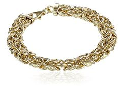 """14k Yellow Gold Byzantine Chain Bracelet, 7.75"""" -- You can find more details by visiting the image link."""