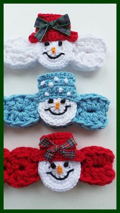 Snowman Headband Pattern USA Crochet pattern by Kerry Jayne Designs Basic Crochet Stitches, Crochet Basics, Bandeau Crochet, Headband Crochet, Free Crochet Headband Patterns, Crochet Bow Pattern, Free Pattern, Holiday Crochet Patterns, Newborn Crochet Patterns
