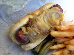Polish dog from Jim's Original, the creator of the first Maxwell Street Polish Sausage Sandwich in 1943.