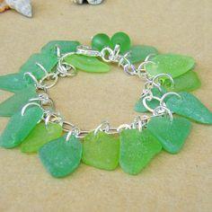 seaglass charm bracelet